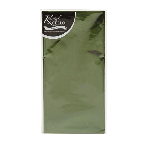 Cellophane 2 Pack Green