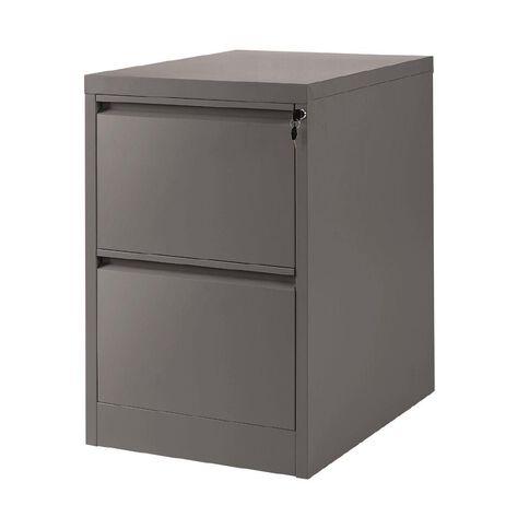 Workspace Filing Cabinet 2 Drawer Grey
