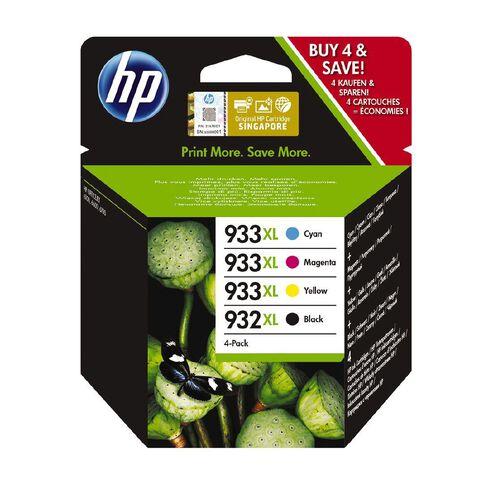 HP 933XL CMY 932XL BLK Combo 4 Pack