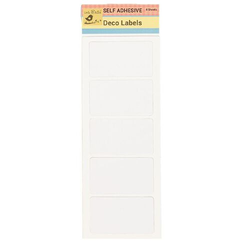 Little Birdie Stickers Labels Plain Assorted