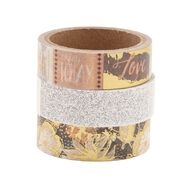 Uniti Washi Tape Blush/Silver 3 Pack
