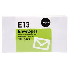 Impact Envelope E13 Seal 100 Pack White