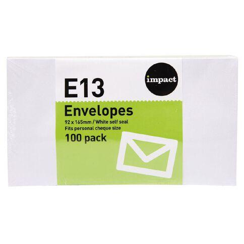 WS Envelope E13 Seal 100 Pack