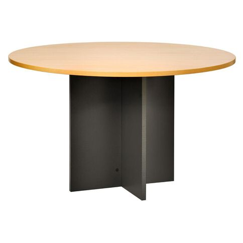 Jasper J Emerge Table 1200 Round Beech/Ironstone