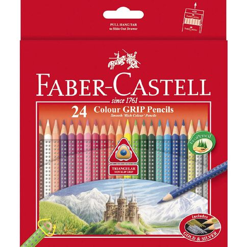 Faber-Castell Coloured Pencils Grip Full Packet Multi-Coloured 24 Pack