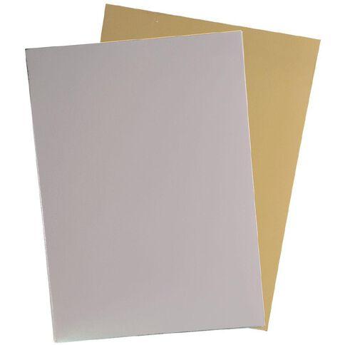 U-Do Value Cardstock Foil 250gsm 12 Sheets Silver Gold A4