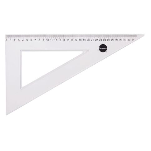 WS Set Square 30 & 60 Degree 32cm Clear