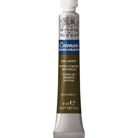 Winsor & Newton Cotman Watercolour Paint 8ml Raw Umber