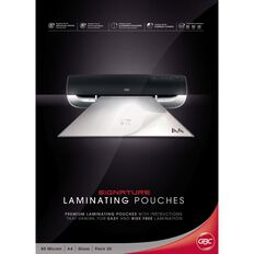 GBC Signature Laminating Pouch 80 Micron 25 Pack A4 Clear