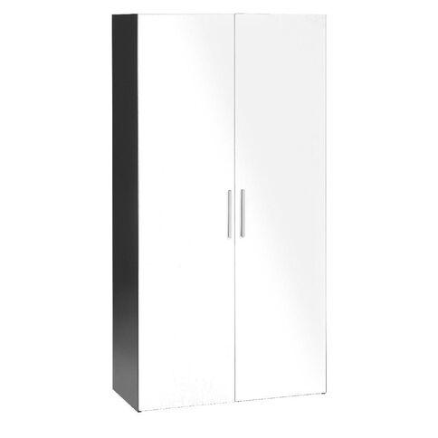 Jasper J Emerge Wood Doors Cupboard 1800 White/Ironstone