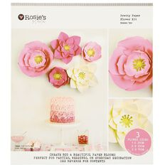 Rosie's Studio Paper Flower Kit 5 Piece