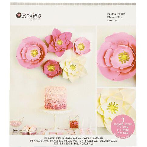 Rosie's Studio Paper Flower Kit 5 Piece