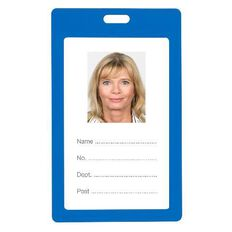Rexel Plastic Card Holder Portrait 6 Pack Blue