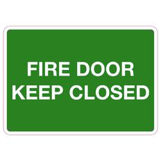 WS Fire Door Keep Closed Sign Small 240mm x 340mm