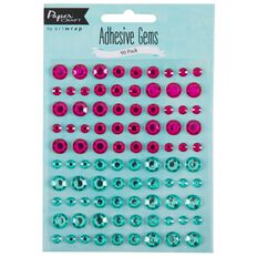 Artwrap Paper Craft Adhesive Gems Brights Multi-Coloured