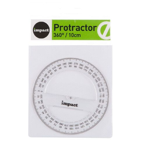 Impact Protractor 360 10cm Clear