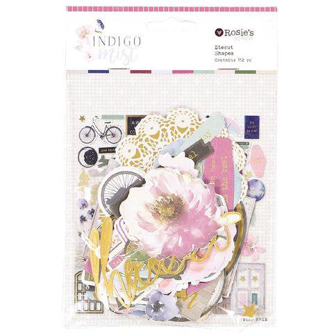 Rosie's Studio Indigo Mist Cardstock Diecuts 152 Piece Mix