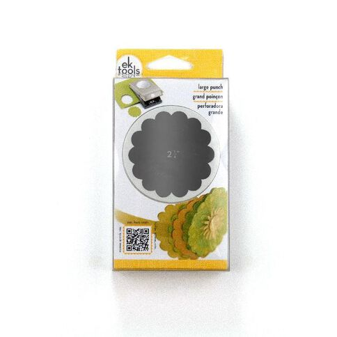 EK Tools Success Punch Scallop Circle 2.25 White