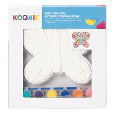 Kookie Paint Your Own Plaster Stepping Stone Butterfly