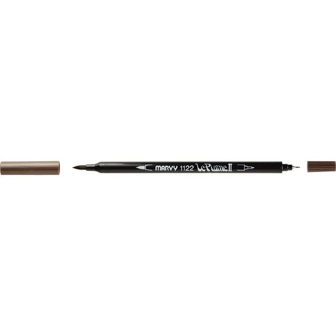MARVY Le Plume II Dual Tip Marker Sepia