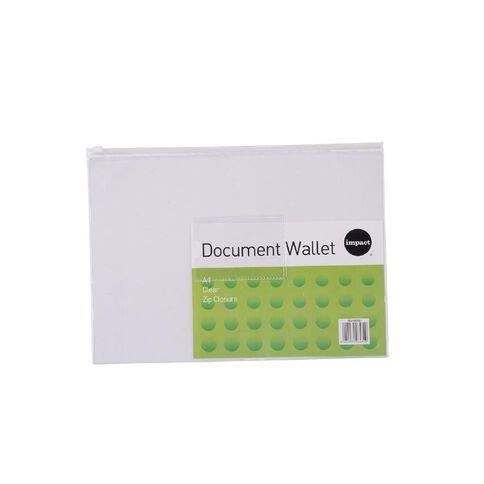 Impact Clear Zipper Document Wallet A4