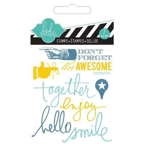 Heidi Swapp Stamps Small Together Clear