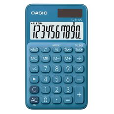 Casio SL310UCBU Hand Held 10 Digit Calculator Blue