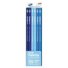 Uni Palette Graphite Pencil 6B 12 Pack Black