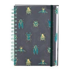 Uniti Fun & Funky Q3 Hardcover Notebook With Dividers Bugs A5