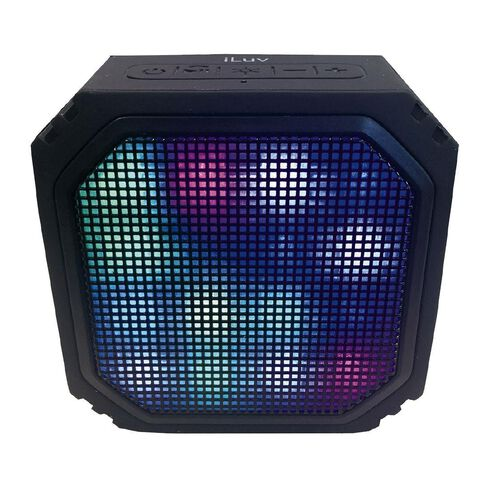 iLuv Aud Mini Party LED Bluetooth Speaker Black