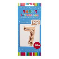 Artwrap Party Foil Balloon Number 7 Rose Gold 35cm