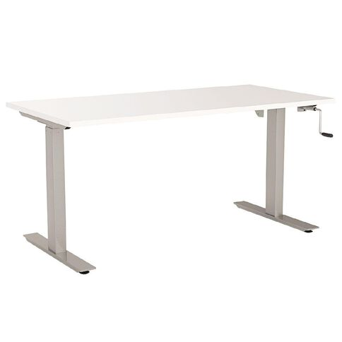 Agile Height Adjustable Desk 1800 White/Silver White/Silver