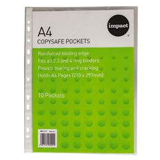 Impact Clear Copysafe Pockets 10 Pack A4
