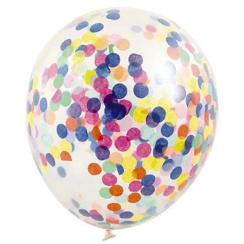 Artwrap Party Balloons Confetti 30cm Multi-Coloured 3 Pack