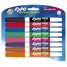 Expo Dry Erase White board Marker Fine Tip Fashion Assorted 8 Pack
