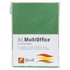 Quill Multioffice Envelopes C6 25 Pack Green