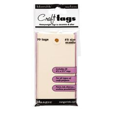 Ranger Craft Tags #5 20 Pack Manilla