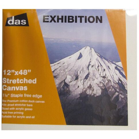 DAS 1.5 Exhibition Canvas 12 x 48in White