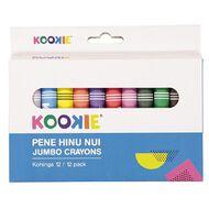Kookie Te Reo Jumbo Crayons 12 Pack