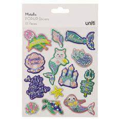 Uniti Pop-up Stickers Metallic Sealife