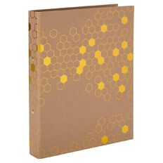 Uniti Bee Natural Kraft Ringbinder Brown