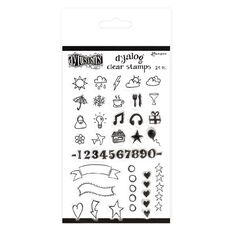 Ranger Dylusions Dyalog Clear Stamps The Full Package