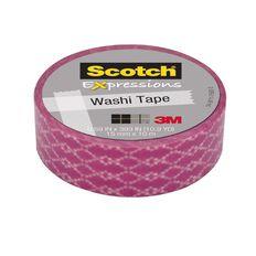 Scotch Washi Craft Tape 15mm x 10m Weave Pink