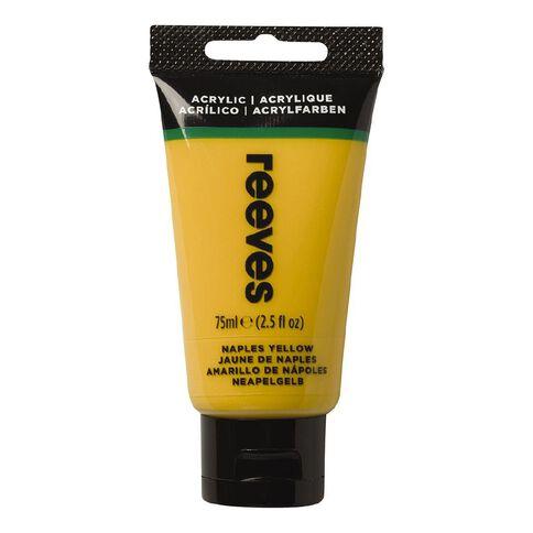 Reeves Fine Acrylic Naples Yellow 495 75ml Yellow 75ml
