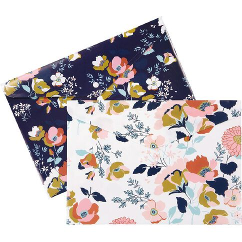 Uniti Winter Bloom Document Wallet A4 2 Pack