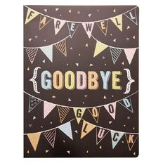 Larger Than Life Cards Goodbye
