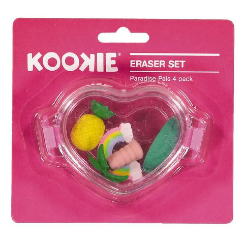 Kookie Novelty19 Paradise Pals Eraser 4 Pack