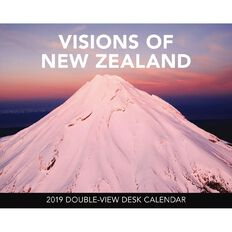 BrownTrout Calendar 2019 Visions of New Zealand Desk Easel