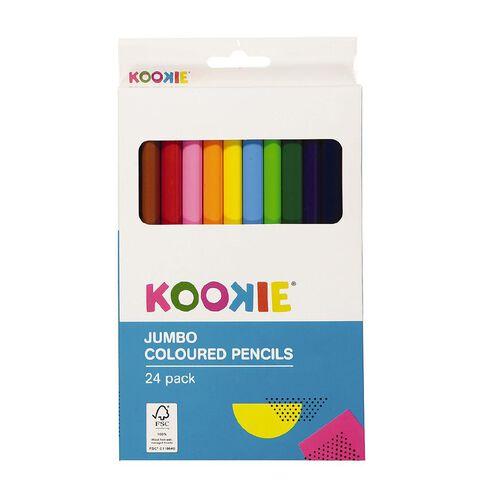 Kookie Coloured Pencils Jumbo Multi-Coloured 24 Pack