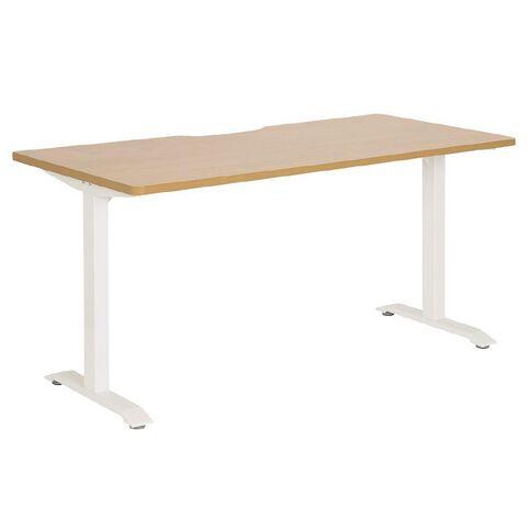 Jasper J Emerge Straight Scallop Desk 1500 WhtBch